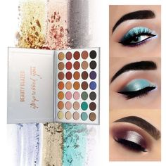 Strong-Willed Beauty Glazed 9colors Eyeshadow Palette Makeup Shimmer Matte Glitter Pigmented Eye Shadow Powder Palette Easy To Wear Shadow Kit Fine Craftsmanship Beauty Essentials Back To Search Resultsbeauty & Health