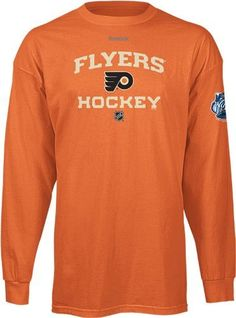 Reebok Philadelphia Flyers 2012 Winter Classic Authentic Progression Long Sleeve T-Shirt - Orange (Large) by Reebok. $15.00. Show off your love for the Flyers with this warm, stylish and comfy Long Sleeve Winter Classic Flyers tee by Reebok