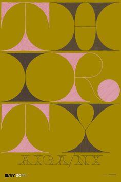 Matteo Bologna for Mucca Design: AIGA/NY 30th Anniversary Poster