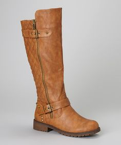 Take a look at this Tan Vivienne Boot by Nature Breeze on #zulily today!