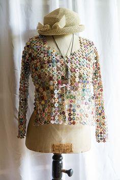 caroline | by Barbara Hartl Diy Crochet, Crochet Crafts, Yarn Crafts, Crochet Projects, Infinity Clothing, Thick Sweaters, Crochet Jacket, Crochet Clothes, Free Pattern