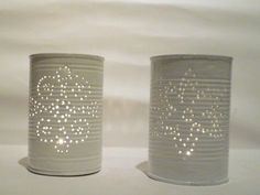 upcycling: Laternen aus Konservendosen / tin can lanterns