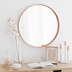 [CHAMBRE] Miroir en métal cuivré CASSY - Maisons du Monde