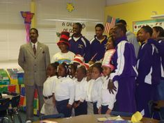 The men's basketball team and education department from Miles College participated in Read Across America Day with C.J. Donald Elementary School Fairfield City Schools
