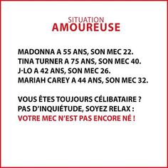 situation amoureuse (humour) Single? Don't worry your husband isn't even born yet...