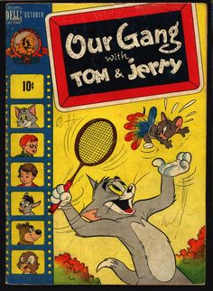 OUR GANG with Tom & Jerry #51 1948 Walt Kelly Little Rascals Buckwheat Alfalfa Dell Comics Hanna Barbera MGM Cartoons Droopy Barney Bear