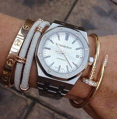 Cartier + Audemars stack