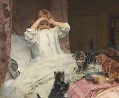 "Arthur John Elsley (British, 1861-1952) - ""Surprised"", c. 1893"