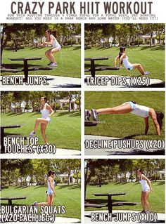 park HIIT workout.. Perfect for in the park !! :)