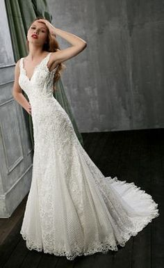 Beautiful Chic Trumpet/Mermaid Chapel Train Wedding Dress with Appliques - the Best Wedding Dresses Wholesale and Retail Online Store