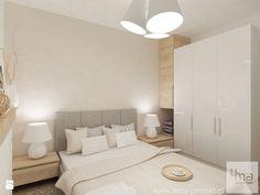Projekt mieszkania na Bielanach o pow. 51,5 m2. - Mała sypialnia małżeńska, styl nowoczesny - zdjęcie od 4ma projekt