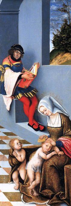 LUCAS CRANACH (1472 - 1553) |  Triptych with the Holy Kinship (right wing) - 1509. Städelsches Kunstinstitut, Frankfurt.