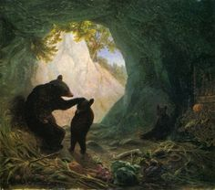Bear and Cubs, 1864, by William Holbrook Beard  Probably should be in Art, but it has the feel of an illustration.