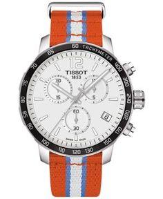 Tissot Unisex Swiss Oklahoma City Thunder Quickster Orange, White & Light Blue Strap Watch 42mm T0954171703714 - Multi