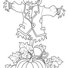 Sign of Pumpkins Garden Coloring Page | Kids Play Color