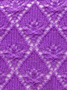 Flower Triangle lace - includes chart More