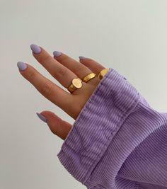 Cute Acrylic Nails, Cute Nails, Gel Nails, Nail Polish, Lilac Nails, Blue Nail, Purple Manicure, Light Purple Nails, Pastel Purple