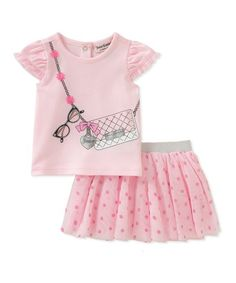 Juicy Couture Pink Purse Tee & Skirt Set - Infant & Toddler | zulily