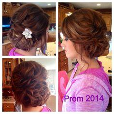My beautiful prom hair!