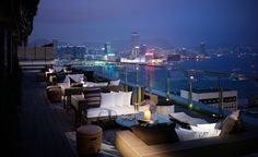 I really recommand SEVVA if you are visitor to hong kong. In its outdoor terrace, you can experience a great view of night scene from Hong Kong.  The price of cocktails are little bit expensive, over 200$.