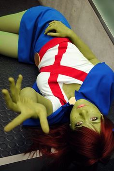 @xAigueMarinex as Miss Martian from #youngjustice. #cosplay