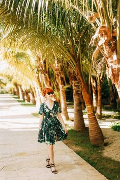 Outfit: Palm Prints in Mexico