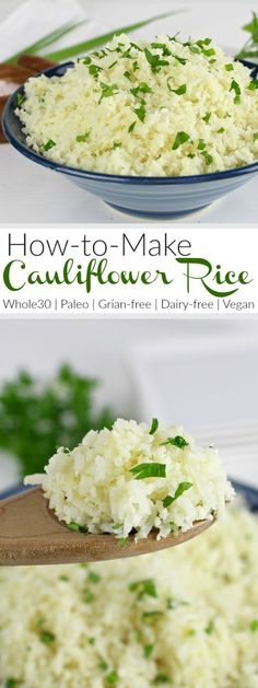 How To Make Cauliflower Rice: A step-by-step photo tutorial | Whole30 | Paleo | Gluten-free | Grain-free | Vegan | http://therealfoords.com