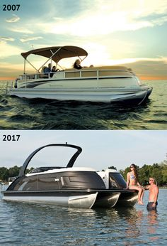 to the 2007 QX Series then, and now. We've made some improvements over the past decade. Deck Boats, Pontoon Boats, Boat Stuff, Lighthouses, Bridges, The Past, Life, Lighthouse