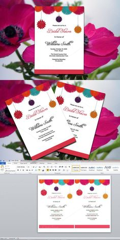 Printable Bridal Shower Invitation. Wedding Card Templates. $7.00