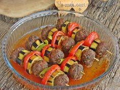 Sebzeli Şiş Köfte Resimli Tarifi - Yemek Tarifleri