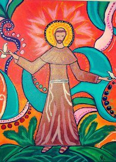 São Francisco de Assis- Pintura (Acrílica) - Juliano Silva