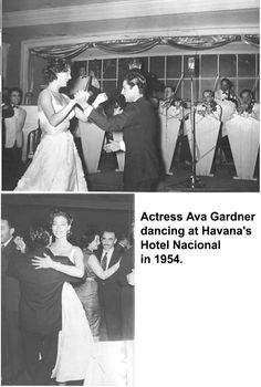 Actriz de cine Ava Gardner Hotel Nacional 1954.