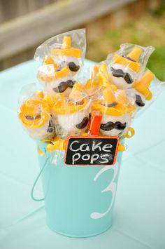 Cute Senor cake pops at a Fiesta #fiesta #cakepops