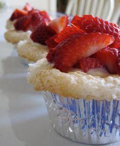 Chocolate Therapy: Vanilla-Stuffed Strawberry Cupcakes
