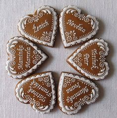 Valentine Cookies, Cute Food, Sugar Cookies, Delicious Desserts, Gingerbread, Cake Decorating, Holiday, Christmas, Muffin