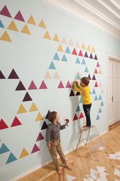 Viste tu pared con papeles murales