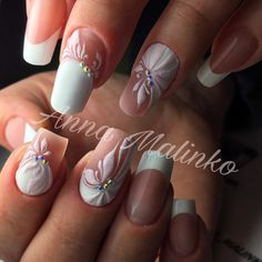 Ideas For Nails Design Ideas Ongles Stylish Nails, Trendy Nails, Pink Nails, Gel Nails, Wedding Nails Design, Easter Nails, Bridal Nails, Super Nails, Rhinestone Nails