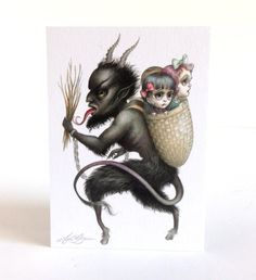'Merry Krampus' art print by Mab Graves.