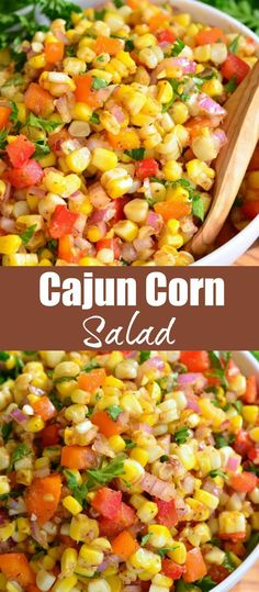 A TASTY side dish to serve at your next BBQ party. This sweet and spicy creation will be your next HIT. Corn Salad Recipes, Summer Salad Recipes, Chicken Salad Recipes, Summer Salads, Vegetable Recipes, Recipes With Corn, Summer Corn Salad, Bbq Salads, Corn Salads