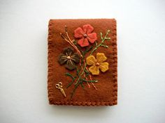 Brown Needle Book Felt Needle Case with by HandcraftedorVintage, $25.00