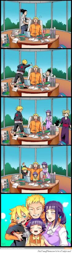 Naruto - Life as a hokage... ;-;  Don't know who made this but thank you