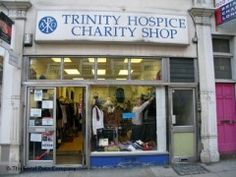 In Kensington - apparently the best charity shop in London for bargain designer clothes and bags!