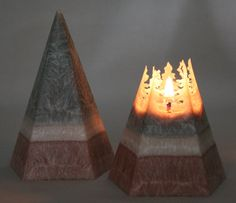Vegan Wax Pyramid Candle 25 hour burn time by Corscandles on Etsy Beautiful Candles, Best Candles, Diy Candles, Candle Wax, Window Candles, Vegan Candles, Burning Candle, Candle Making, My Room