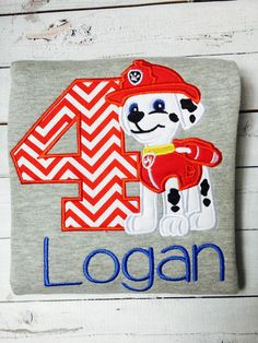 Hey, I found this really awesome Etsy listing at https://www.etsy.com/listing/237306091/paw-patrol-birthday-shirt-personalized