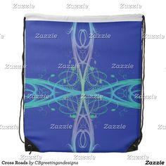 Cross Roads Drawstring Bag