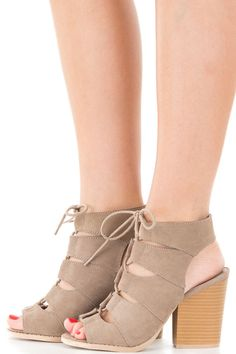 Lime Lush Boutique - Taupe Suede Lace Up Front Heel, $49.99 (http://www.limelush.com/taupe-suede-lace-up-front-heel/)#lovefashion #new #Spring #fashionblog #instafashion #photomodel #beauty #trend #queen #day #us #follow #girl #dress #princess #look #lookbook #like #beautiful #cute #sexy #iphonesia