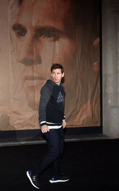 Messi, en la reinauguración de la tienda Adidas en el Passeig de Gràcia