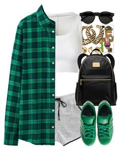 """""""Untitled #1373"""" by power-beauty ❤ liked on Polyvore featuring Tribes, H&M, River Island, Alaïa, MICHAEL Michael Kors, Uniqlo, adidas and Illesteva"""