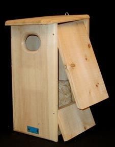 Duck Houses for Goldeneyes - a must have. Goldeneyes can't dig out their own nest!