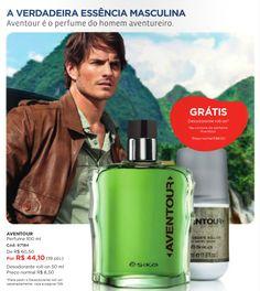 Perfume masculino Aventour. Na compra do perfume, GRÁTIS o desodorante roll-on.  Fale comigo: muitomaisbelcorp@gmail.com facebook.com/muitomaislbel Campanha Ésika Ag/2013.